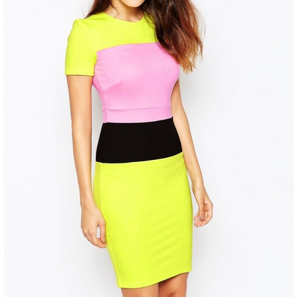 021f0d6e04f French Connection Dresses   Skirts - French Connection Lula stretch color  block Dress